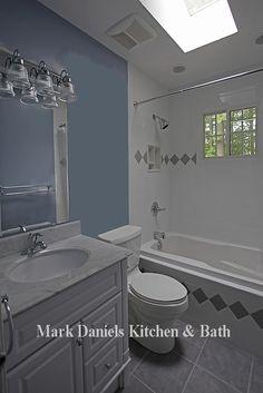 White/Blue/Gray Bathroom
