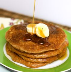 Almond butter pancakes