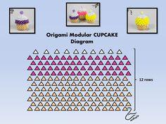 3D Origam Cupcake Tutorial