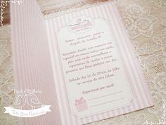 Convite Chá de Bebê passarinho rosa