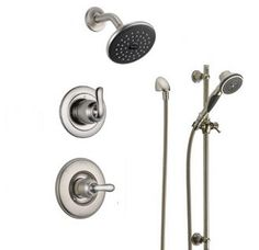 View the Delta DSS-Linden-1401 Monitor 14 Series Single Function Pressure Balanced Shower System with Shower Head, and Hand Shower - Includes Rough-In Valves at Build.com.