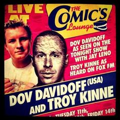 AUSTRALIA! Host @dovdavidoff is coming your way featuring @troykinne friend of the show #comedy #standup #event