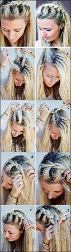 Flechtfrisuren für mittellange Haare selber machen - die schönsten ...