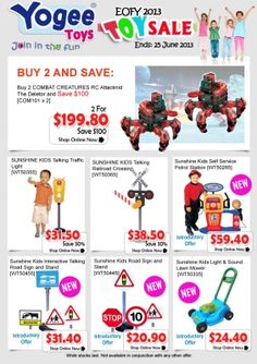Big toy sale on at the moment at Yogee