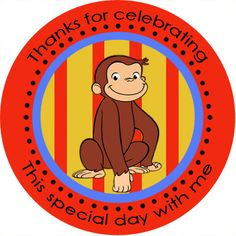 curious george stickers | larger image curious george stickers personalized how you would like