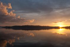 The sunset on Lake Temagami on May Weapon Of Mass Destruction, Sunsets, Hello Kitty, Sunrise, Lady, Places, Outdoor, Outdoors, Sunrises