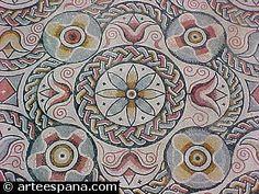 Ejemplo de Mosaicos Romanos.  Carranque (Toledo)