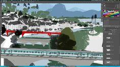 Work in progress. #process #wip #illustration #city #train
