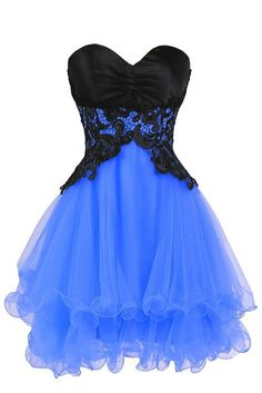 Ellames Sweetheart Bridesmaid Short Prom Homecoming Party Dresses For Juniors Blue US 2