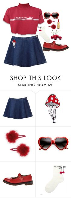 """pop my cherry"" by naughty-nymphets ❤ liked on Polyvore featuring Topshop, ZeroUV, Dr. Martens, Isaac Mizrahi and nymphet"