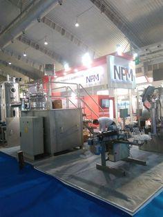"India Pharma Machine 2017. Exhibition Stall for ""NPM Pharma Machinery (8x8 mtr)"" Designed by Mangesh Sutar   E4 EVENTS."