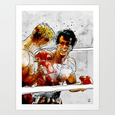Boxing: Rocky Balboa vs Drago Art Print by Ed Pires Rocky Balboa, Rocky Film, Silvester Stallone, Movie Poster Art, Sports Art, Cool Posters, Classic Movies, Action Movies, Fantasy Art