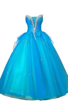 Cocomelody Women's Ball Gown Floor Length Beading Tulle Quinceanera Dress F12029 2 Blue COCOMELODY http://www.amazon.com/dp/B00L0WH5QE/ref=cm_sw_r_pi_dp_UUWVtb1MCCQ7EQMM