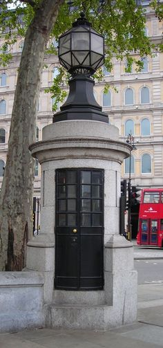 A police station in Trafalgar Square, London, currently unused, has space for only one officer!