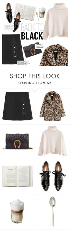 """""""Back to black"""" by punnky ❤ liked on Polyvore featuring H&M, Haute Hippie and Juliska"""