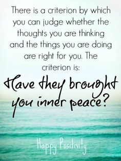 Inner peace quote via www.Facebook.com/Happy.Positivity