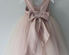 Handmade shoulder strap flower girl dress, wedding dress, bridesmaid dress, christening dress...size 3 months to size 16