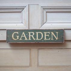 Garden Sign In British Green & Victorian by UtopiaHomeAndGarden, £30.00