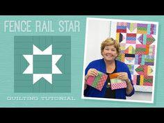 MSQC Tutorial - Fence Rail Star Quilt
