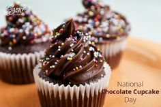 #NationalChocolateCupcakeDay #Cupcake a day keeps the worries away. www.countryoven.com