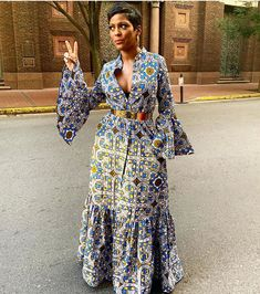 Top Celebrity Looks From 2019 Essence Festival: Zendaya In Salvatore Ferragamo, Michelle Obama In Sergio Hudson, Michelle Williams In Alpana Neeraj, and More! African Lace Dresses, Latest African Fashion Dresses, African Attire, African Wear, Tamron Hall, African Traditional Dresses, Ankara Dress, Black Girl Fashion, The Dress