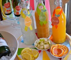 I have to try this.... a mimosa bar!