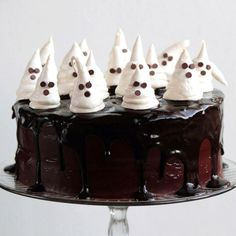 Give any cake a spooky twist with these super easy meringue ghosts. Get the recipe from Pastry Affair.   - Delish.com
