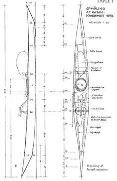 traditional long greenland kayak blueprint