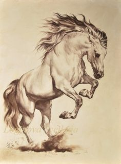 Painting horse tattoo ideas for 2019 - painted. - Painting horse tattoo ideas for 2019 – painted. Horse Pencil Drawing, Horse Drawings, Animal Drawings, Pencil Drawings, Drawing Animals, Drawing Art, Pencil Art, Painted Horses, Animal Sketches