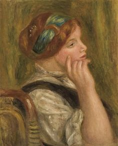 Pierre-Auguste Renoir (French, 1841–1919) Femme accoudée,  1905 oil on canvas 45 x 36 cm. (17.7 x 14.2 in.)