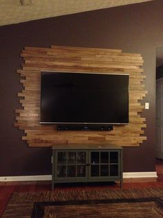 Wood TV Wall