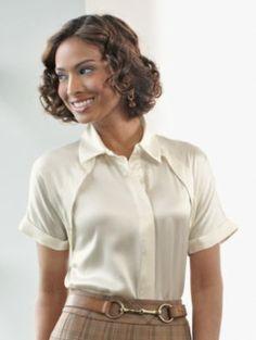 Pendleton silk blouse