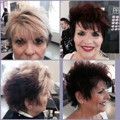 Kay R, Before and After, re-pigmenting with Shines XG demi-permanent color, cut, color, make-up.