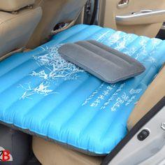 M2B093 matelas de voiture gonflable bleu motifs