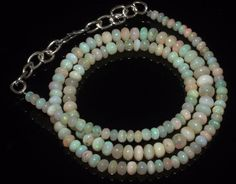 42CTW 3.5-5.5MM 16 NATURAL GENUINE ETHIOPIAN WELO FIRE OPAL BEADS NECKLACE-R4663