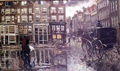 George Hendrik Breitner:Corner of Leidsche Square, Amsterdam