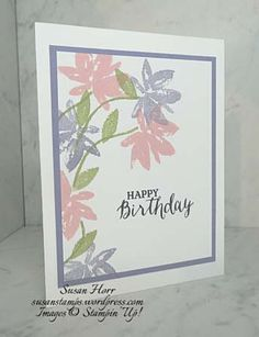 This is the last card I will post using the FREE Sale-a-bration stamp set called Avant Garden.  Why you ask?  Sale-a-bration ends tomorrow.  It is so sad.  There are so many cute items in this year…