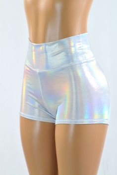 High Waist Flashbulb Holographic Metallic by CoquetryClothing