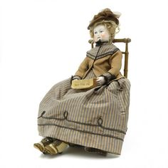 Rohmer, Madame doll, around 1870, 460 mm, enameled : Lot 262