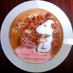 .·:*¨¨*:Coffee♥Art:*¨¨*:·. #Snoopy #latte #coffee