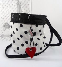 Sweet white bag dotted black made by Stilamonie ♥