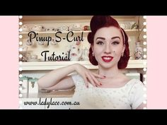 Pinup S-Curl Fringe Tutorial with Miss Lady Lace S Curl, Pin Up Hair, Vintage Makeup, Vintage Hairstyles, Hair Inspo, Pinup, Photoshoot, Nails, Lady