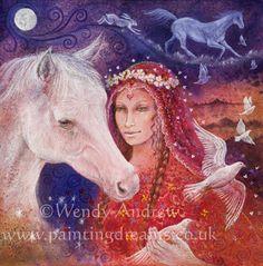 Rhiannon Horse Maiden © Wendy Andrew  (www.paintingdreams.co.uk)