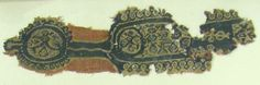 Textile Fragment Date: 7th century Geography: Made in Byzantine Egypt Culture: Coptic Medium: Linen, wool Dimensions: Overall: 13 1/2 x 4 1/8 in. (34.3 x 10.5 cm) Classification: Textiles-Woven