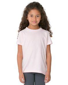 American Apparel Toddler's Fine Jersey Short-Sleeve T-Shirt 2105 LIGHT PINK