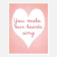 You Make Our Hearts Sing now featured on Fab.