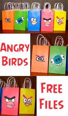 angry birds printable bags