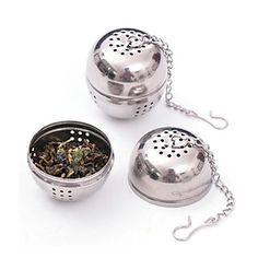 aço inoxidável chá infusor peneira de malha de filtro de bloqueio 8.5x4.5x4cm bola especiaria – BRL R$ 9,11
