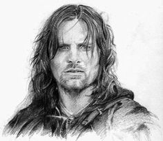 Amazing drawing of Aragorn!