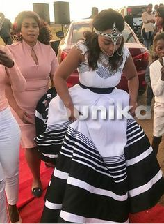 Tsonga Traditional Dresses, Traditional Wedding Dresses, African Wedding Dress, African Dress, Xhosa Attire, Traditional African Clothing, African Fashion, African Style, Shweshwe Dresses